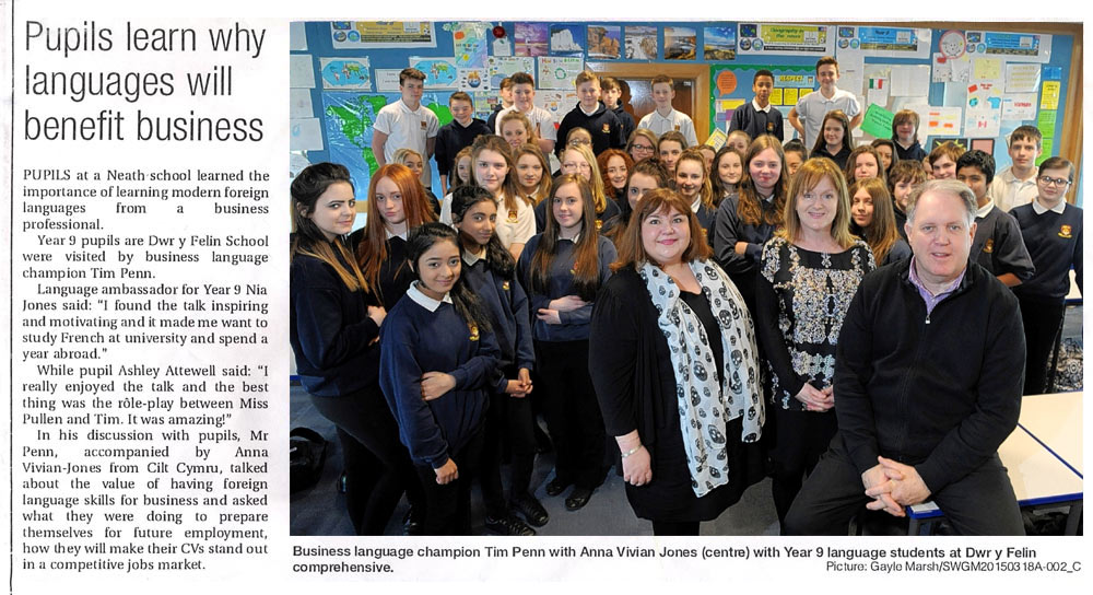 Pupils learn why languages will benefit business